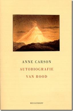 cover van autobiografie van rood anne carson